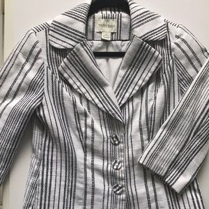 WHITE HOUSE BLACK MARKET STRIPE JACKET
